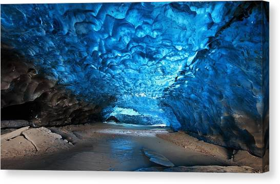 Ice Caves Canvas Print - Ice Cave by Mariel Mcmeeking