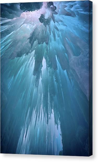 Stalactites Canvas Print - Ice Cavern by Rick Berk