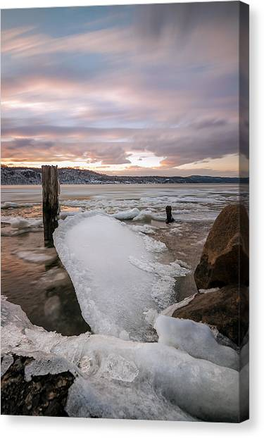Ice Chips Canvas Print