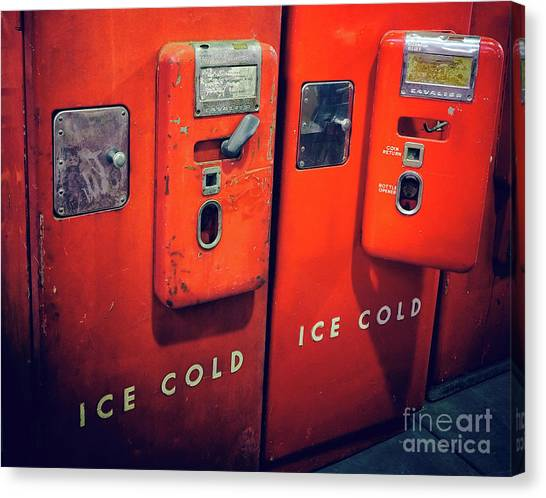 Ice Cold Red  Canvas Print by Steven Digman