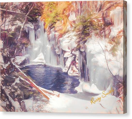 Ice Cold View Of Sages Ravine. Northwest Connecticut Canvas Print
