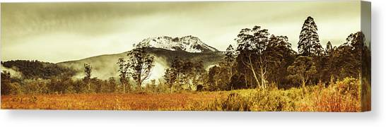 Winter Scenery Canvas Print - Ice Covered Mountain Panorama In Tasmania by Jorgo Photography - Wall Art Gallery
