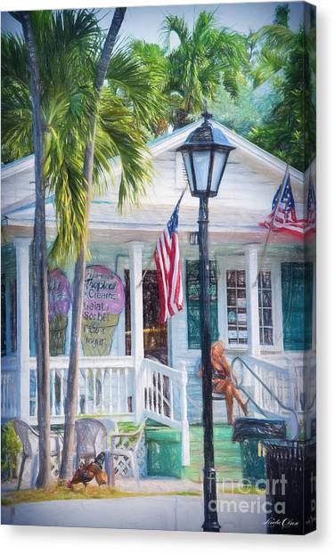 Ice Cream In Key West Canvas Print