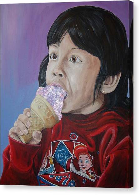 Ice Cream Canvas Print by Kevin Callahan