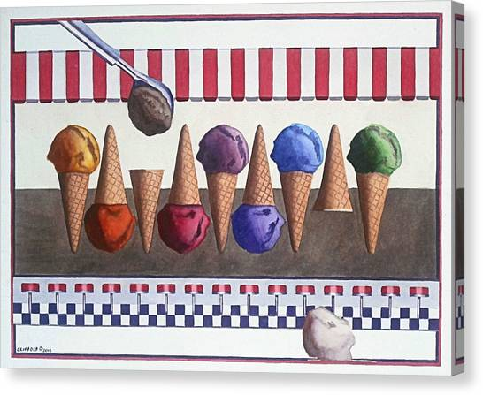 Ice Cream Shoppe Canvas Print by Cory Clifford