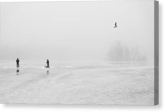 Ice Fishermen Canvas Print