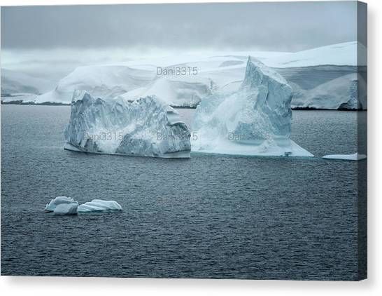 Antarctic Desert Canvas Print - Ice Formations And Landscape In The Neumayer Channel, Antarctic Peninsula by Dani Prints and Images