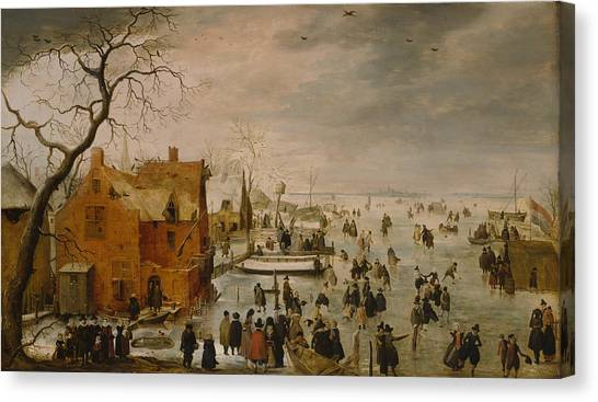 Ice Landscape Canvas Print