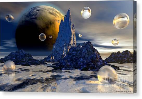 Ice Planet Canvas Print by Sandra Bauser Digital Art