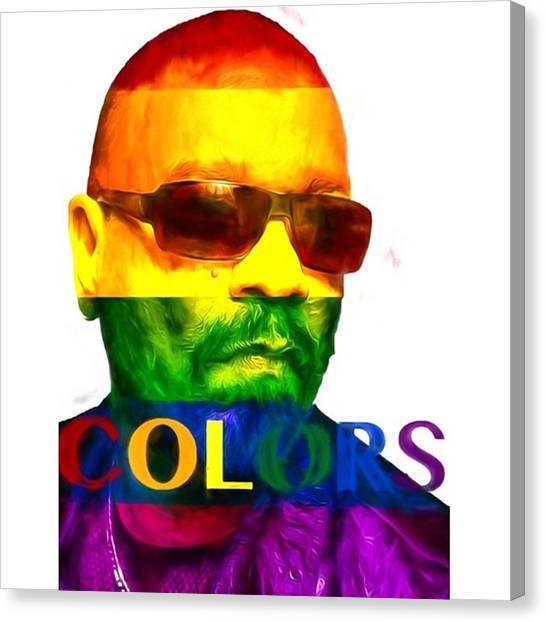 Celebrities Canvas Print - Ice-t Colors The Ganga Of La Will Never by David Haskett