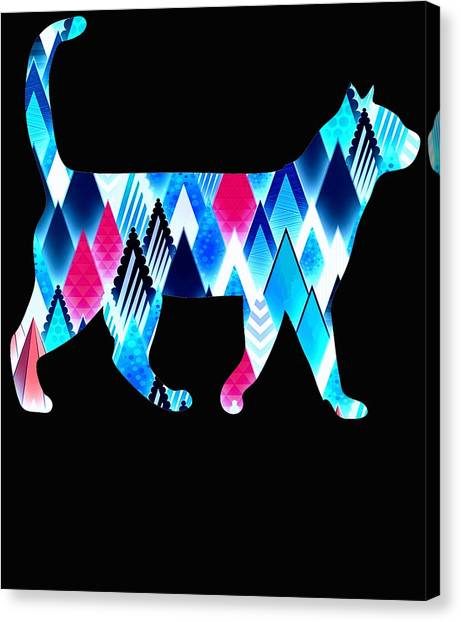 Ocicats Canvas Print - Ice Triangles Cats by Kaylin Watchorn