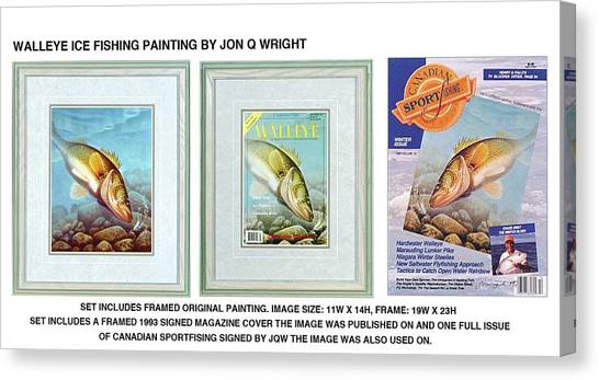 Freshwater Canvas Print - Ice Walleye by JQ Licensing