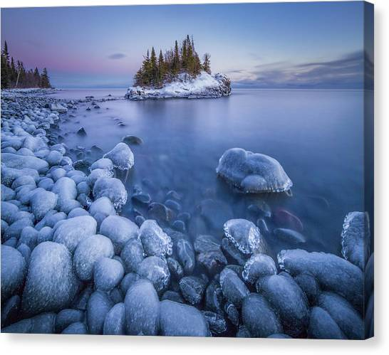 Ice World // North Shore, Lake Superior  Canvas Print