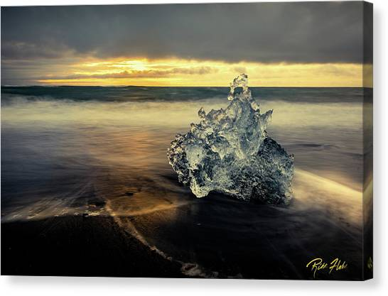Canvas Print featuring the photograph Iceberg At Dawn by Rikk Flohr