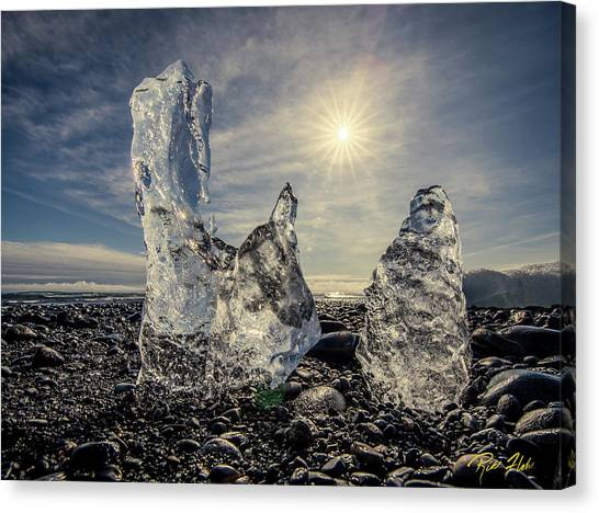 Canvas Print featuring the photograph Iceberg Fingers Catching The Sun by Rikk Flohr