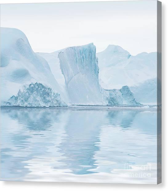 Glacier Bay Canvas Print - Iceberg In Disko Bay Greenland by Janet Burdon