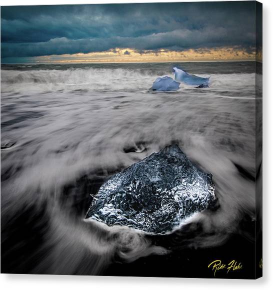 Canvas Print featuring the photograph Iceberg Remnant by Rikk Flohr
