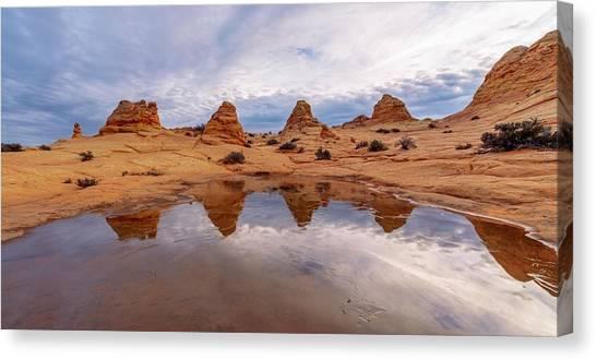 Arizona Coyotes Canvas Print - Ice Capades by Dustin  LeFevre