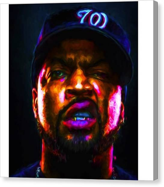 Celebrities Canvas Print - @icecube #icecube #osheajackson by David Haskett II
