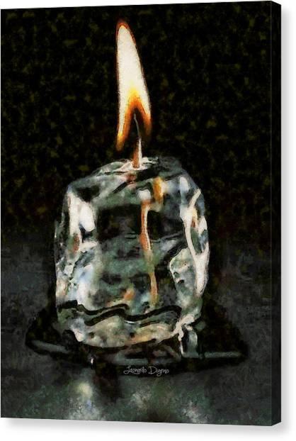 Technical Canvas Print - Iced Candle - Da by Leonardo Digenio