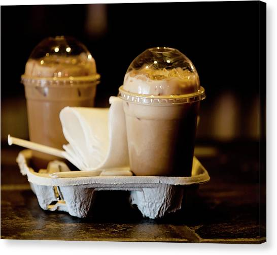 Iced Caramel Coffee Canvas Print