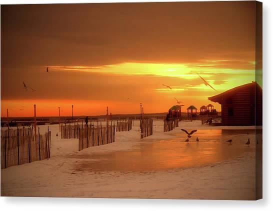 Iced Sunset Canvas Print