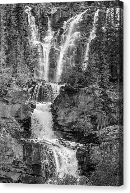 Icefields Waterfall Canvas Print