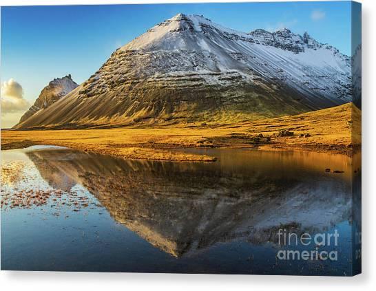 Vatnajokull Glacier Canvas Print - Iceland Ring Road Snow Capped Peaks by Mike Reid