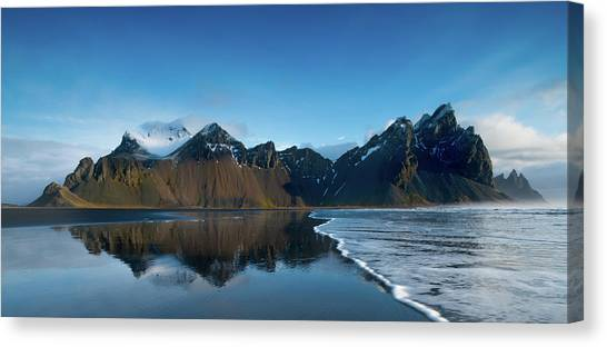 Glaciers Canvas Print - Iceland Sunrise by Larry Marshall