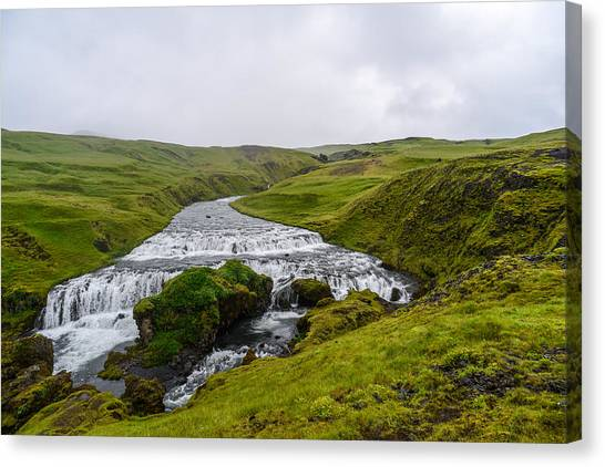 Icelandic Cascade Canvas Print