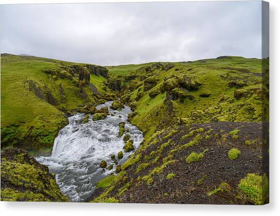 Eyjafjallajokull Canvas Print - Icelandic Waterfall by Alex Blondeau