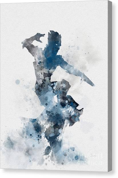 Drake Canvas Print - Iceman by Rebecca Jenkins