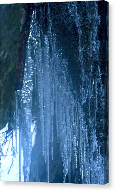 Icicles  5 Canvas Print by John Higby