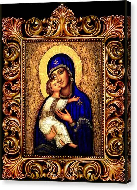 Icon Madonna Altar Canvas Print by Ananda Vdovic