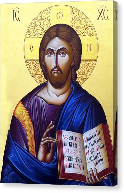 Icon Of Christ In Jericho Canvas Print