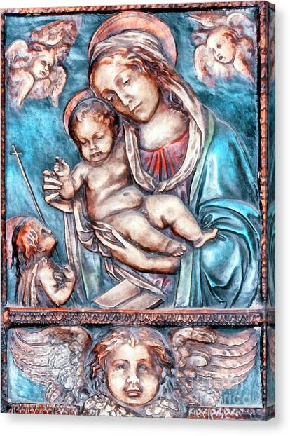 Icon Of Madonna Mother Of God  Canvas Print