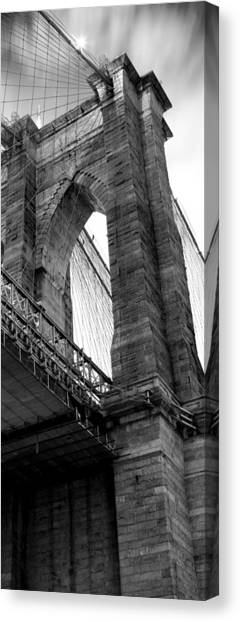 Brooklyn Bridge Canvas Print - Iconic Arches by Az Jackson