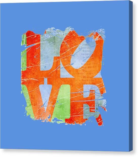 Iconic Love - Grunge Canvas Print
