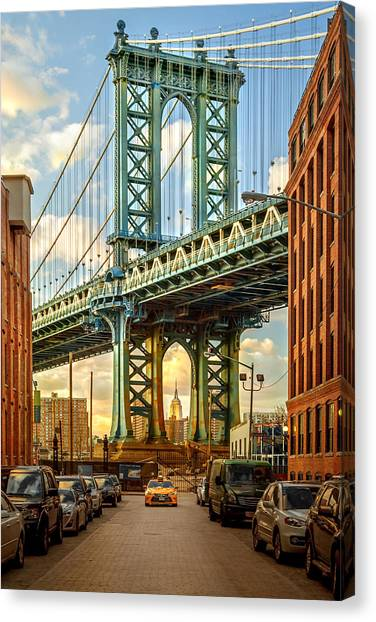 Sunsets Canvas Print - Iconic Manhattan by Az Jackson