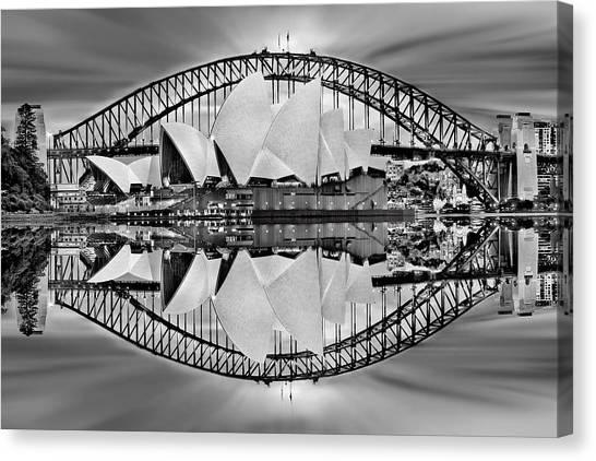 Australian Canvas Print - Iconic Reflections by Az Jackson
