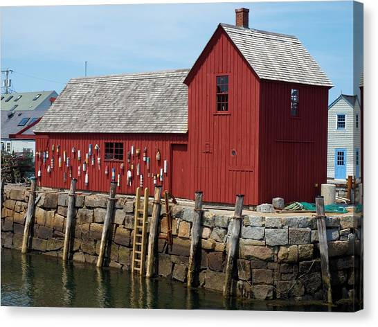Iconic Rockport Ma Canvas Print