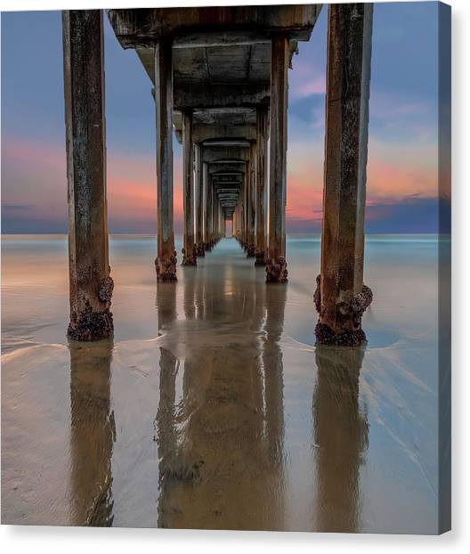 Singh Canvas Print - Iconic Scripps Pier by Larry Marshall