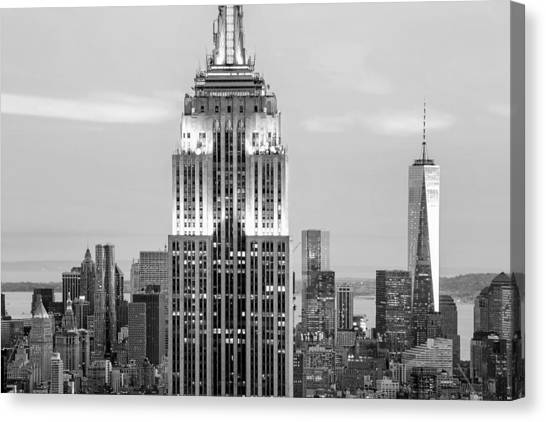 Empire State Building Canvas Print - Iconic Skyscrapers by Az Jackson