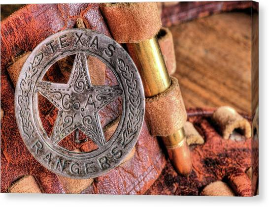 Texas Rangers Canvas Print - Iconic Texas by JC Findley