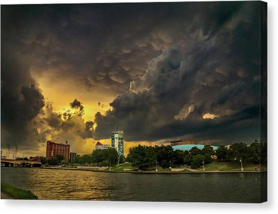 ict Storm - High Res Canvas Print