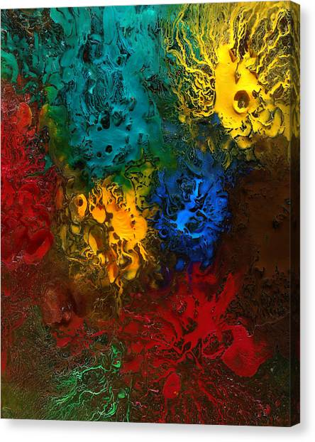 Canvas Print featuring the mixed media Icy Abstract 10 by Sami Tiainen