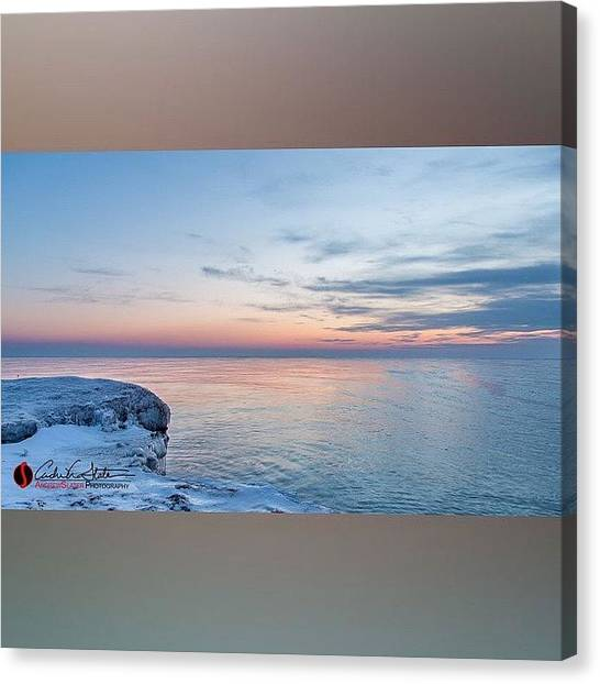 Sunrise Horizon Canvas Print - Icy by Andrew Slater