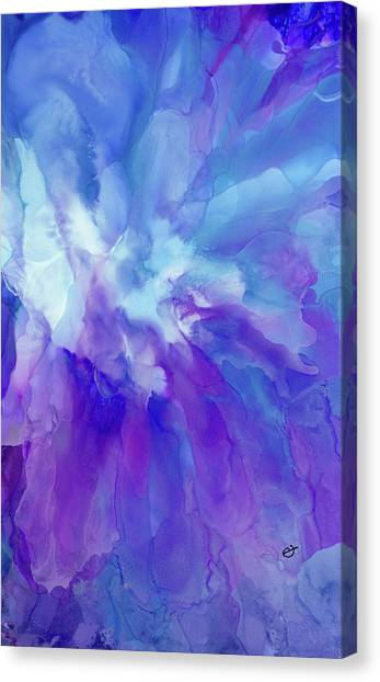 Icy Bloom Canvas Print