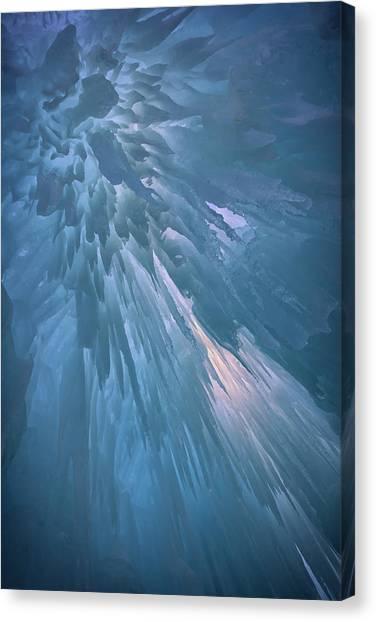Stalactites Canvas Print - Icy Blue by Rick Berk
