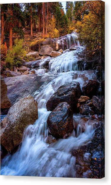 Icy Cascade Waterfalls Canvas Print